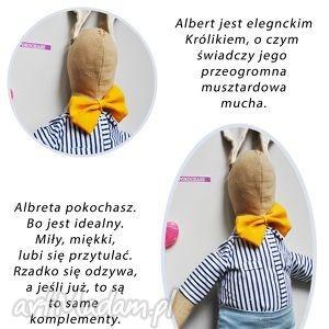 Albert maskotki peppofactory rękodzieło, zabawka, przytulanka
