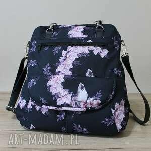 torebki niezwykle plecak torba listonoszka - ptaszek na magnolii, magnolia
