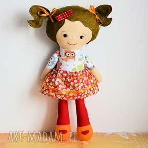 ręczne wykonanie pomysł na upominek święta lalka rojberka - słodki łobuziak oliwka