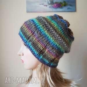 Pastelowe szaleństwo czapka, rękodzieło, pastele, styl, zima, ferie