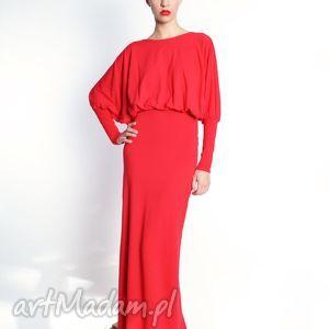 sukienki elizabeth maxi - długa, kimonowa suknia rozm 34 - 40, jersey, długa