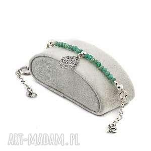 amazonit, srebro, 925, kamienie, oryginalna, bransoletka