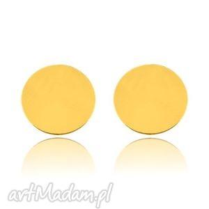 sotho złote kolczyki pełne kółeczka - złote kolczyki