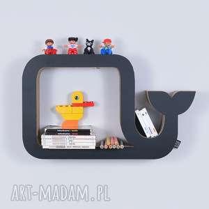 półka na książki zabawki wieloryb ecoono czarny - półka