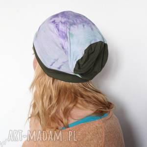 Czapka handmade unisex damska męska bawełniana ręcznie farbowana