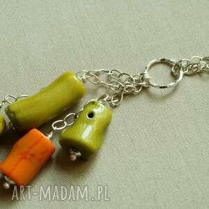 hand made naszyjniki naszyjnik z zielonego korala