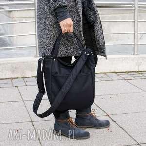 miniks nubuk czerń faktura, vegan, torebka, torba, simple, casual