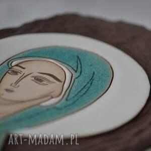 obrazy ikona ceramiczna z wizerunkiem maryi - pneumatofora