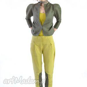 oryginalny prezent, mimy - spodnie, żółty, dzienne, praca, żółte