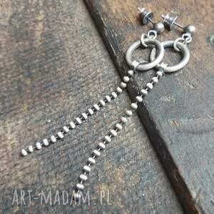 minimalistyczne kolczyki ze srebra, wiszące