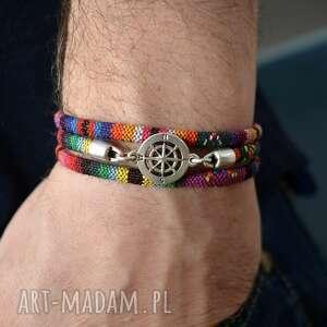 bransoletka kompas montezuma, unisex, dla podróżnika, miłośnik