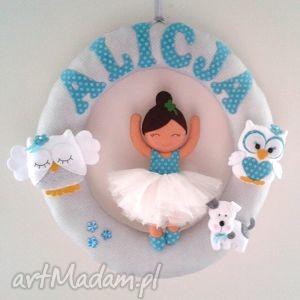 personalizowana girlanda z imieniem dziecka - girlanda, filc, dekoracja, dziecko