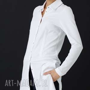 Biała koszula Piaza, koszula, klasyczna, biała, kołnierz, długa, rozpinana
