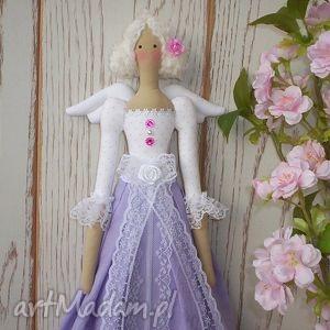 lalki aniołek lalka lawendowa koroneczka styl tilda, anioł, lalka, tilda