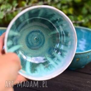 misa m - miska śniadaniowa - miseczka turkuverde white, ceramika na prezent