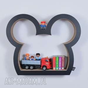 półka na książki zabawki myszka ecoono czarny - chłopiec dziewczynka