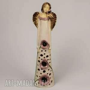 Anioł lampion ceramika kacik pomyslow anioł-ceramiczny, lampion