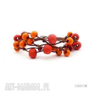 hand-made jarzębina jesienna bransoletka