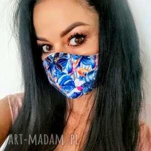 maseczka maska,maseczka streetnewstyle z filtrem, maska, ochronna, kwiaty