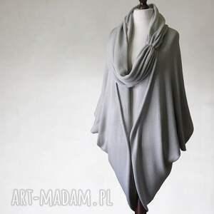 Obszerny sweter z wełny merino i kaszmiru, sweter, poncho, otulacz, wełna, kaszmir