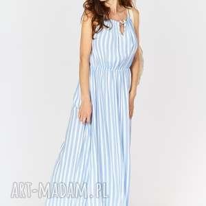 ręcznie zrobione sukienki sukienka na lato typu maxi - paski. Manzana