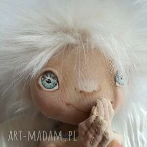 hand-made dekoracje e-piet aniołek - dekoracja ścienna figurka tekstylna ręcznie szyta