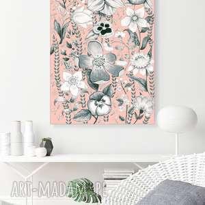 Kwiaty 50x70cm, plakat, kwiaty, ilustracja, obraz, sztuka