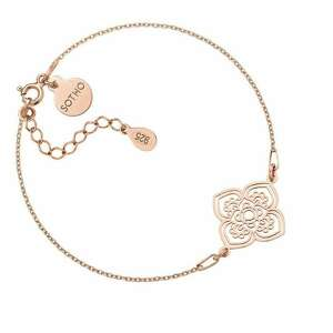 bransoletka z różowego złota z dużą - łańcuszek