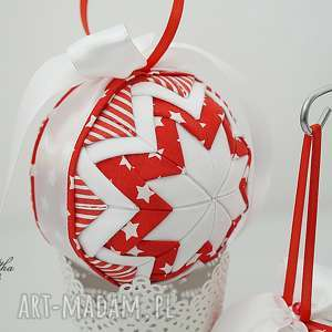 vairatka-handmade bawełniana bombka - ozdoba świąteczna