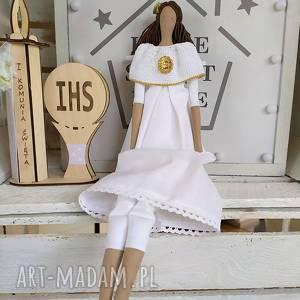 ręcznie wykonane lalki anioł pamiątka pierwszej komunii świętej