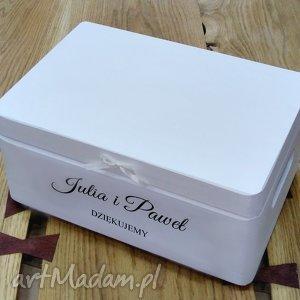 Prezent Ślubne pudełko na koperty Personalizowane Kopertówka, pudełkonakoperty, ślub