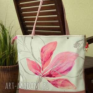 kwiatowa torba na ramię, torba, pastelowa, kwiaty, wiosna lato, prezent, polski