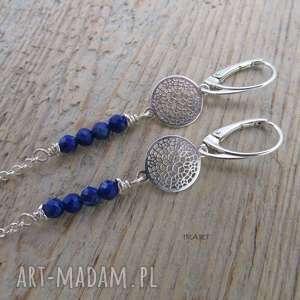 Długie z lapis lazuli, lapis, kolczyki