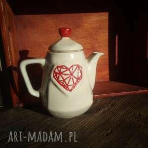 Dzbanek na herbatę, ceramika kamionkowa ręczne wykonanie