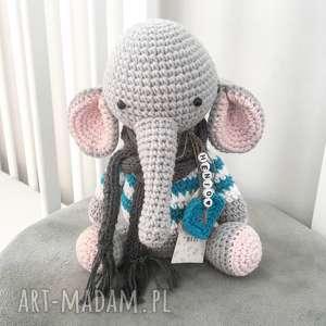 ręcznie robione maskotki słoniątko florek - mini słonik
