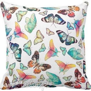 pościele poszewka na poduszkę dziecięca kolorowe motyle 3068, poszewka, motyl