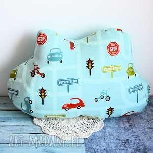 pokoik dziecka poduszka dziecięca - chmurka w różne pojazdy, chmurka, ulica