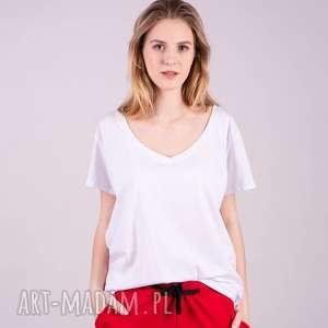 t-shirt damski klasyczny biały, t shirt, bluza, spodnie, bluzka, sukienki