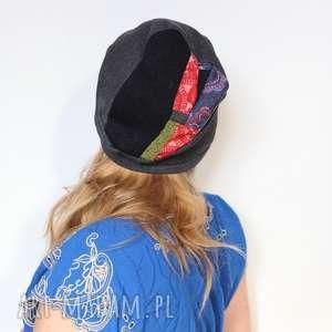 czapka umysłowa biegunka po zbyt wielu trunkach - czapka, patchwork, mama, dzianina