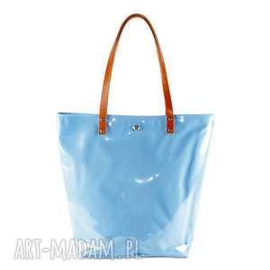 na ramię torba shopper neon blue, torba, folia, plaże, zakupy, pojemna