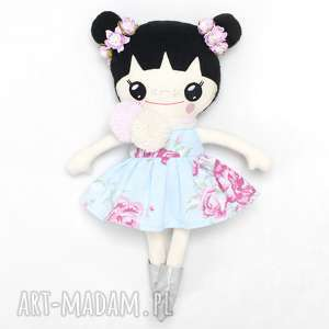 lalki bawełniana lalka lalalila poofy cat, lalka, bawełniana, szmaciana, kwiaty
