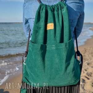 plecak worek, butelkowy zielony zielona czwóreczka, plecak, butelkowy, kieszeń