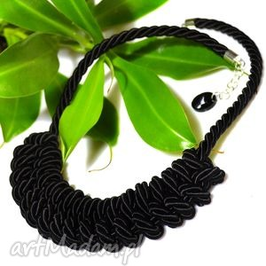 oryginalny prezent, co libre design simple black, naszyjnik, lina, pleciony