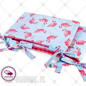 ochraniacz minky do Łóżeczka 30x150cm obijacz - flamingi w sorbecie