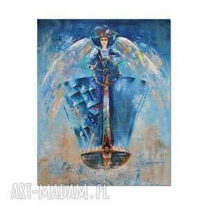 anioł dhar, obraz ręcznie malowany