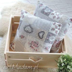 Komplet poduszek dekoracyjnych shabby chic vintage 2szt. , poduszki, ozdobne