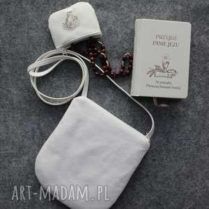 mała torebka do komuni, torebka, komunia, biała biały aksamit