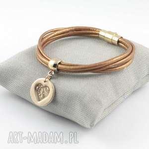 bransoletki bransoletka z sercem, serce, złoto, brąz biżuteria
