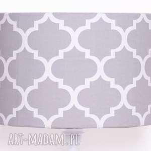 Abażur FRESH GREY 40x40x25cm od majunto, abażur, duży-abażur, koniczyna-marokańska