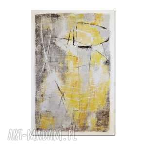 Grot 2, abstrakcja, nowoczesny obraz ręcznie malowany, obraz, ręcznie, malowany